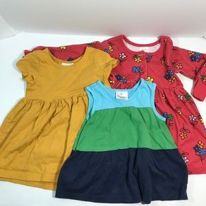 Hanna Andersson 80 Girls 2T Lot of 3 Dresses